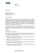 External Auditors Letter to the Audit Committee (Management Letter) - 2015