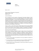 External Auditors Letter to the Audit Committee (Management Letter) - 2010