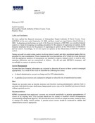 External Auditors Letter to the Audit Committee (Management Letter) - 2008