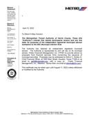 IRMA letter (2020)