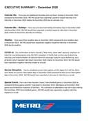 December 2020 ridership report