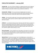 January 2021 ridership report