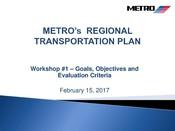 METRONext Board Workshop Presentation - February 2017