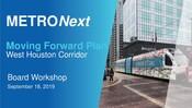 METRONext Board Workshop Presentation - September 2019