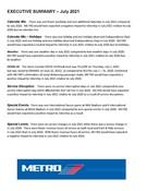July 2021 ridership report