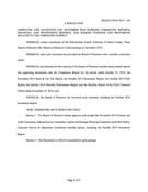 November 2019 Board Resolutions