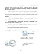 April 2017 Board Resolutions