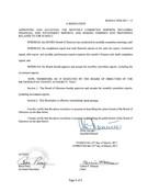 March 2017 Board Resolutions