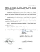 February 2017 Board Resolutions