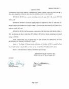 January 2017 Board Resolutions