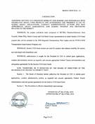 May 2016 Board Resolutions