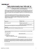 Title VI Complaint Form (Vietnamese)