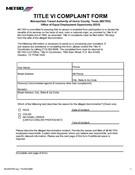 Title VI Complaint Form (English)